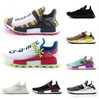 release date 1c3bc 3b046 Creme x NERD Solar Human Race 2018 Zapatos para correr pharrell williams Hu  trail Crema Core