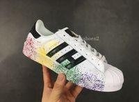 Superstar smith 여성 신발 및 남성 신발 새로운 도착 여름 스타일 13 색 인기 인과 신발 Eur36-44 사랑스러운 o982