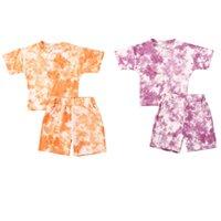 Pudcoco 0-5 años de verano para niños ropa de las muchachas fija 2pcs impresión de la manga corta T Camisas Tops + cortocircuitos 2 colores