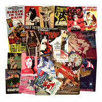 En gros 46pcs / Lot Affiche Film Vintage Rétro Célèbre Film Affiche Autocollants Planche À Roulettes Ordinateur Portable Portable Bagages Cas De Voyage Vinyle Stickers