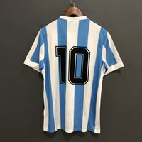 Argentina Retro 1978 White Blue Football Soccer Jerseys Shir...