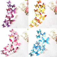 12pcs 3D Decal Colourful Butterflies Wall Stickers Home Room...