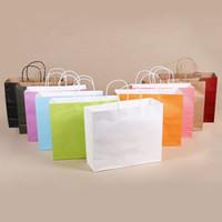 صديقة للبيئة كرافت ورقة حقيبة هدية حقيبة محمولة مع Handles Store تغليف حقيبة تسوق أكياس هدية التفاف مجاني DHL WX9-1166