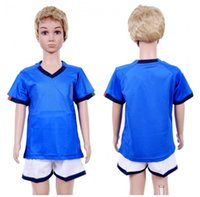 Italie Accueil Enfants 19 Kit de Football 20 Maillots de Football LOGO Brodé 20 Maillot de Football Bleu