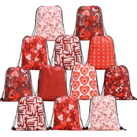 New Valentine' s Day Heart Drawstring Bag Woman Satchel ...