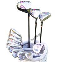 Neue Frauen-Golfschläger Maruman FL Clubs Komplettsets Golf Antrieb Holz Eisen Putter Clubs L Golf Graphitschaft Verschiffen Kein Beutel Freies