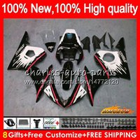 Body Kit For YAMAHA YZF600 YZF 600 R 6 600CC new red blk YZF R6 03-05 59NO.125 YZF-R6 YZF-600 YZFR6 03 04 05 2003 2004 2005 Fairing +8Gifts
