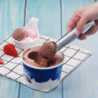de metal colher de sorvete de creme auto-fusão Ice colheres bola colher cozinha ferramentas bar fabricantes de sorvete bolo loja T2I5916