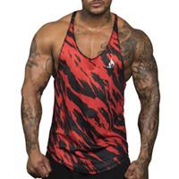 Nuovo panno di maglia rapida Singlets Dry Camouflage canotte shirt Bodybuilding Fitness Equipment Uomini ori Gymstringer Kawaii