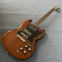 متجر مخصص SG الغيتار الكهربائي براون ، الأصابع مطعمة بالنقاط ، روزوود الأصابع ، وحرية الملاحة 190507
