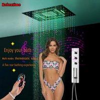 Подвеска Кристалл Bluetooth Music LED Потолочный душ Глава скрынный Термостатический душ Установить панель кран Tap душ акустическая система BJ8401