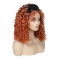 Curly Full Lace Wig With Baby Hair Brazilian Lace Front Huma...