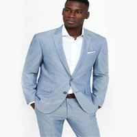 Casual Smoking Blue Man Suit Slim Fit Wedding Suits For Men ...