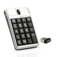 Original 2 en el teclado USB del ratón óptico de IONE SCORPIUS N4, Wired 19 teclado numérico con el mouse y la rueda de desplazamiento para la entrada de datos rápida