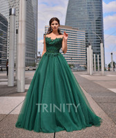 Excellent Green Tulle Scoop Applique Beads Evening Dresses S...