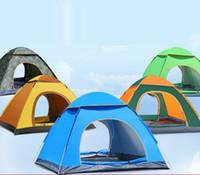 2-3 Person Automatisches Zelt Outdoor Faltbarer Pop Up Offenes Zelt Camping Wandern Strand Reise UV-Schutz Sonnenhelfer Wasserdichtes Zelt VT0164