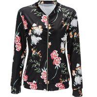 2017 S-2XL новая осенняя мода цветочный принт хорошее качество дамы основной уличный стиль Женщины короткая куртка