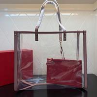 le donne in PVC classico caldo borse sacchetto trasparente borse singole borse crossbody spalla delle signore borse Grande shopping bag capienza