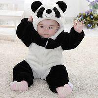 2016 Nouveau-nés Bébé animal mignon Panda manches longues en coton d'hiver à capuchon Romper Vêtements de bébé Costume Vêtements