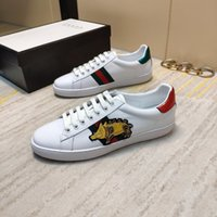 New Italy GG brand men' s sports shoes leather embroider...