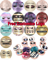 21set MINK cils 1pair / lot 100% réel 3D Full Strip Faux cils longs cils individuels Lashes Extension