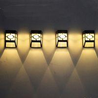 Солнечной энергии Настенное крепление LED свет Открытый сад путь пейзаж забор двор лампы водонепроницаемый Открытый сад украшения гаджеты OOA5149