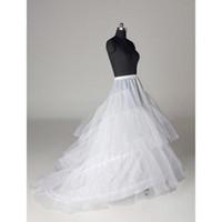 طبقات تول 3 الأطواق ثوب نسائي كرينولين للفساتين مع قطار حفل زفاف انزلاق