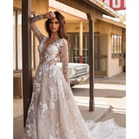 New Arrival Sexy Back Bohemian Country Wedding Dresses ith S...