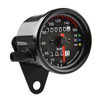 Freeshipping LED Backlight Motorcycle Snelheidsmeter Odometer Nacht leesbaar Snelheid Meter Gauge Paneel Motorfiets Universeel Odometer Instrument