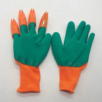 Gartenhandschuhe mit Fingertips Claws Leicht Graben Pflanze Sicher Anti-Rutsch-Handschuhe Wasser-Beweis-Strand-Schutzhandschuhe T2I5799