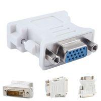 DVI 24 5 DVI мужчины 24 + 5 24 + 1 VGA женский адаптер для ПК, HDTV монитор видео адаптер конвертер 1шт