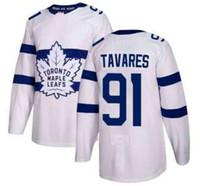 Homens Toronto Maple Leafs # 91 John Tavares White 2018 Série Stadium Stitched Jersey, 29 Nylander 93 Gilmour 9 N Esportes Hóquei Jerseys