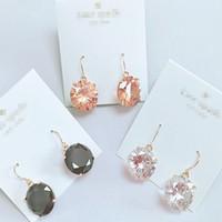 New York Stylist Ohrringe Mode Kristall Drop Ohrringe Große Kristall Schmuck Günstige berühmte Frauen Ohrringe