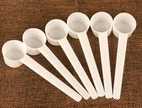 5 г/10 мл пластиковый мерный совок 5 грамм пищевой PP плоская ложка для белка сухое молоко жидкий Белый SN542
