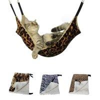 Hanging Cat Hammock Pet Supplies gatto Sacco a pelo del gatto dell'animale domestico della gabbia traspirante su due lati Disponibile Warm Mat Bed Pet