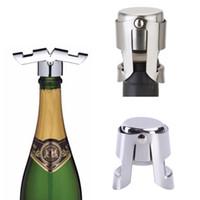 الفولاذ المقاوم للصدأ زجاجة النبيذ سدادة المحمولة فراغ السداده بار سدادة الشمبانيا سدادة متألقة النبيذ قبعات الشمبانيا