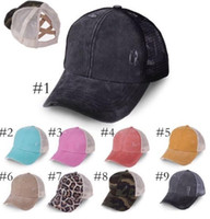 Fast Shipping Messy Leopard Ponytail Hat Elastic String Torn...