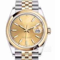 Top Luxury Watches Rose Gold Grey DateJust Movimiento Mecánico Automático Movimiento Jubileo Pulsera para mujer Mens Diamond Designer Relojes de pulsera