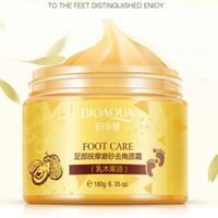 BIOAQUA Masaje de pies Crema Exfoliante Piel Anti arrugas Blanqueamiento Exfoliante reparación ásperos allanados Pies Hidratante Crema de masaje ODM / OEM