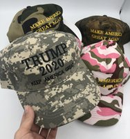 5 Styles Donald Trump Camouflage Hat Femmes Hommes Baseball Cap Keep America Grand 2020 Chapeaux 3D broderie Camo Casquettes snapback réglable M199F