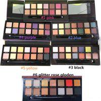 Palette de maquillage chaude 14 couleurs moderne fard à paupières Palette 6 styles limitée palette fard à paupières avec brosse
