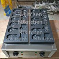 Kommersiell tecknad Tiger Paw Print Waffle Maker 220V 110V Elect Egg Waffle Cake Machine Snack Bread Baker Iron