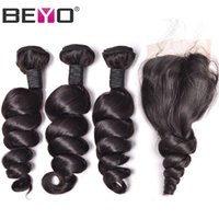 Beyo Loose Wave Bundles With Closure Brazilian Hair Weave Bu...