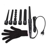Neue 6 in 1 Keramik Pro Lockenstab Lockenwickler Set Pro Austauschbar Barrel Turmalin Lockenstab Maschine Multifunktionale