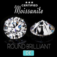 NiceGems 2.5ctw Moissanite 8.5mm D Color loose GemStone Colorless Round Excellent Hearts And Arrows Cut lab Grown Diamond VVS1 CJ191210