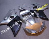 YZF600R6 98-02 YZF600 YAMAHA 부품에 대한 ABS 페어링 YZF R6 1998-2002 Sportbike 실버 블랙 오토바이 선체 세트 (사출 성형)