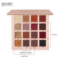 العلامة التجارية Shimmer Matte Eyeshadow Palette Makeup IMAGIC أصباغ طبيعية مضادة للماء لون بريق المعادن ظلال العيون مستحضرات التجميل Q83