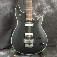 Özel siyah elektro gitar floyd rose alışveriş tremolo çin kitleri gümüş gövde mevcuttur, ücretsiz kargo gitar
