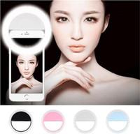 de carga del flash de la lámpara LED de relleno autofoto belleza del anillo exterior autofoto recargable luz para todos DHL libre teléfono móvil fabricante