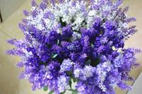 10 имитации цветка лаванда прованс поддельного цветок лаванда для украшения свадебного украшения дома свободного распространения